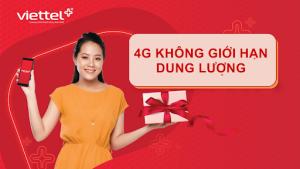 5 gói 4G Viettel không giới hạn dung lượng